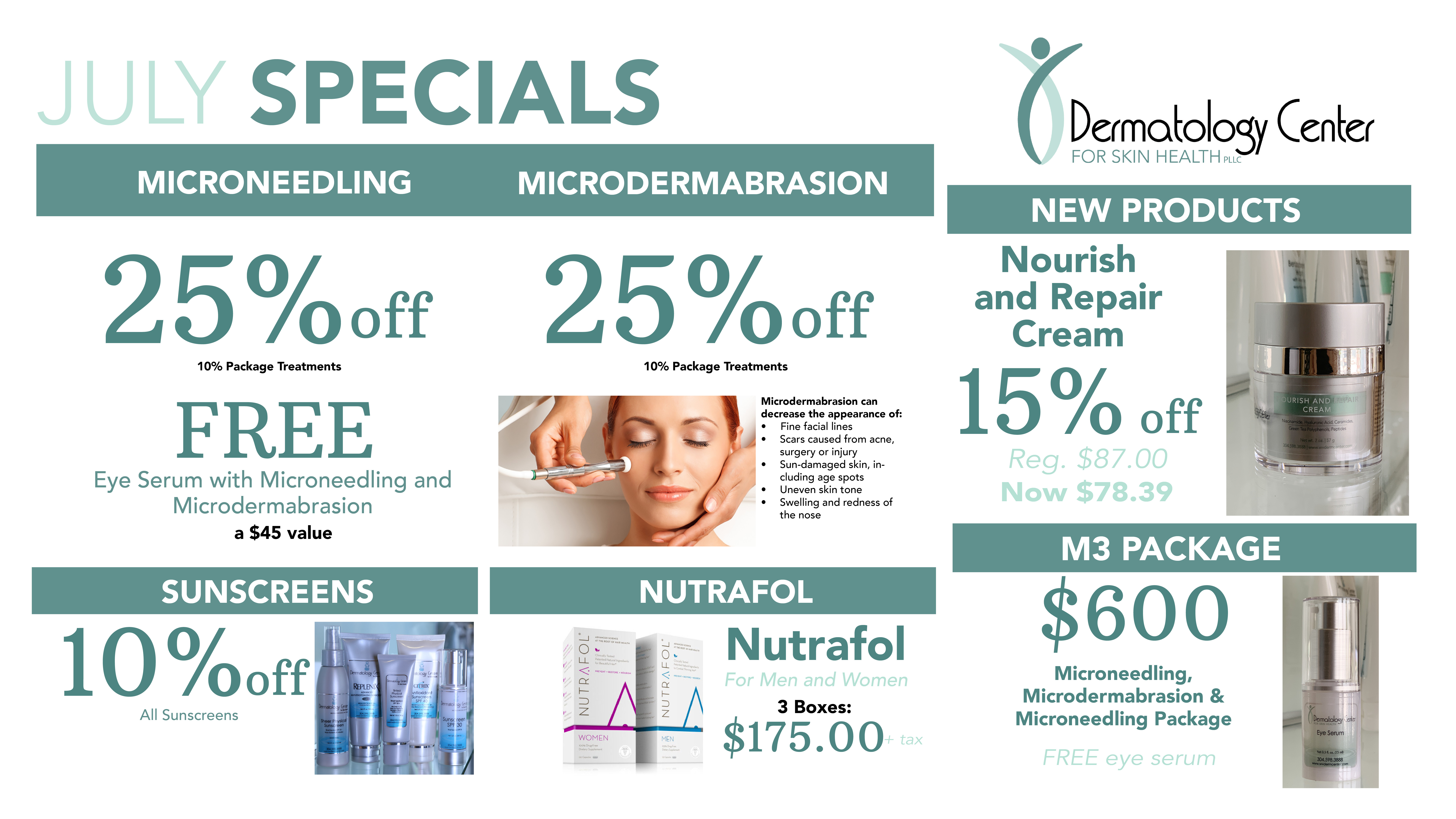 2019 07 July Dermatology Specials Slideshow